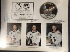Apollo XI Crew Signed Commemorative Print