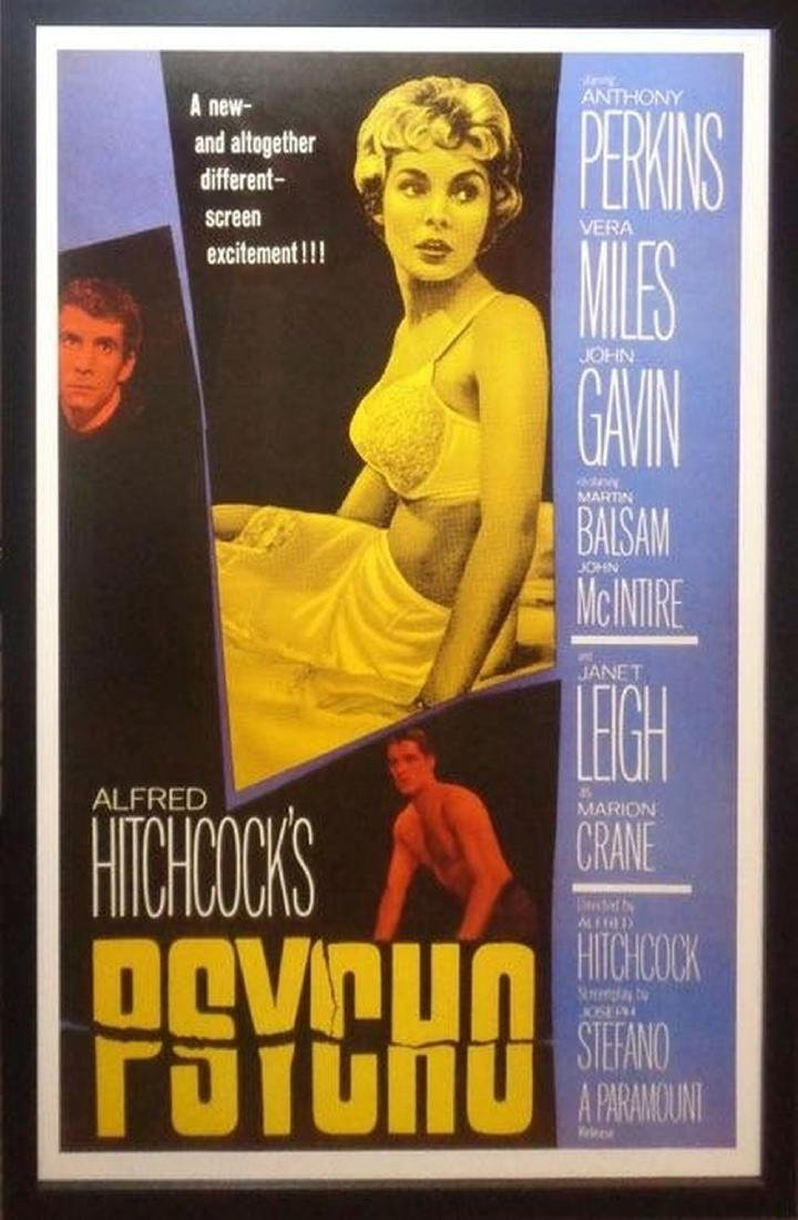 Psycho Signed Movie Poster