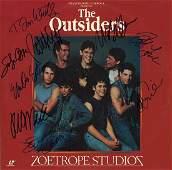 """Tom Cruise & Tom Waits """"The Outsiders"""" Signed Laserdisc"""