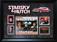 Starsky & Hutch Signed & Framed Photo Collage