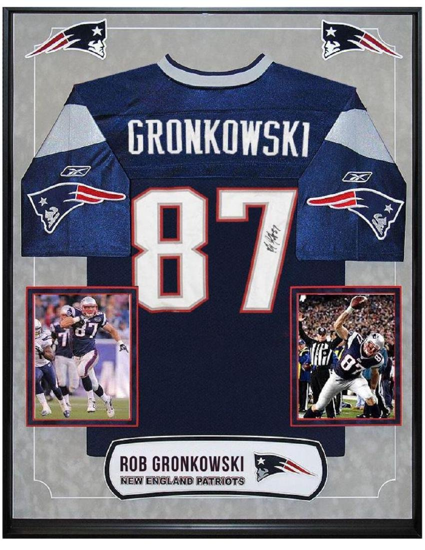 quality design 04d3d 7cfcc Rob Gronkowski Signed Patriots Jersey