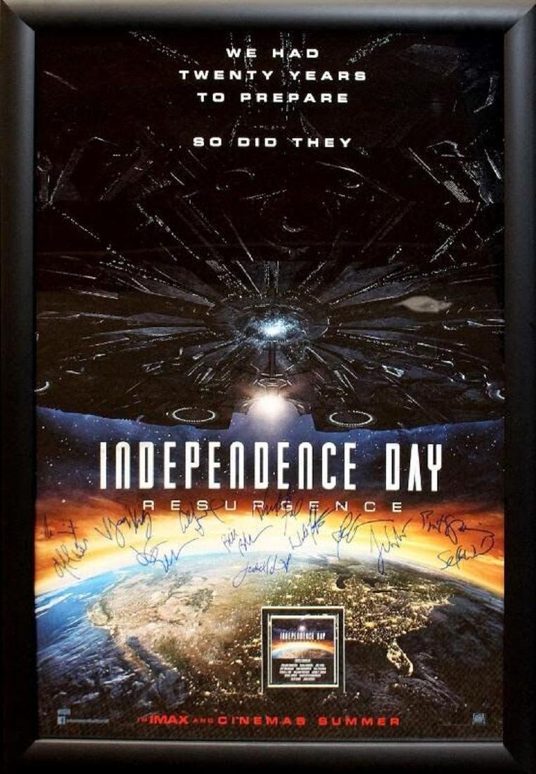 Independence Day Signed Movie Poster