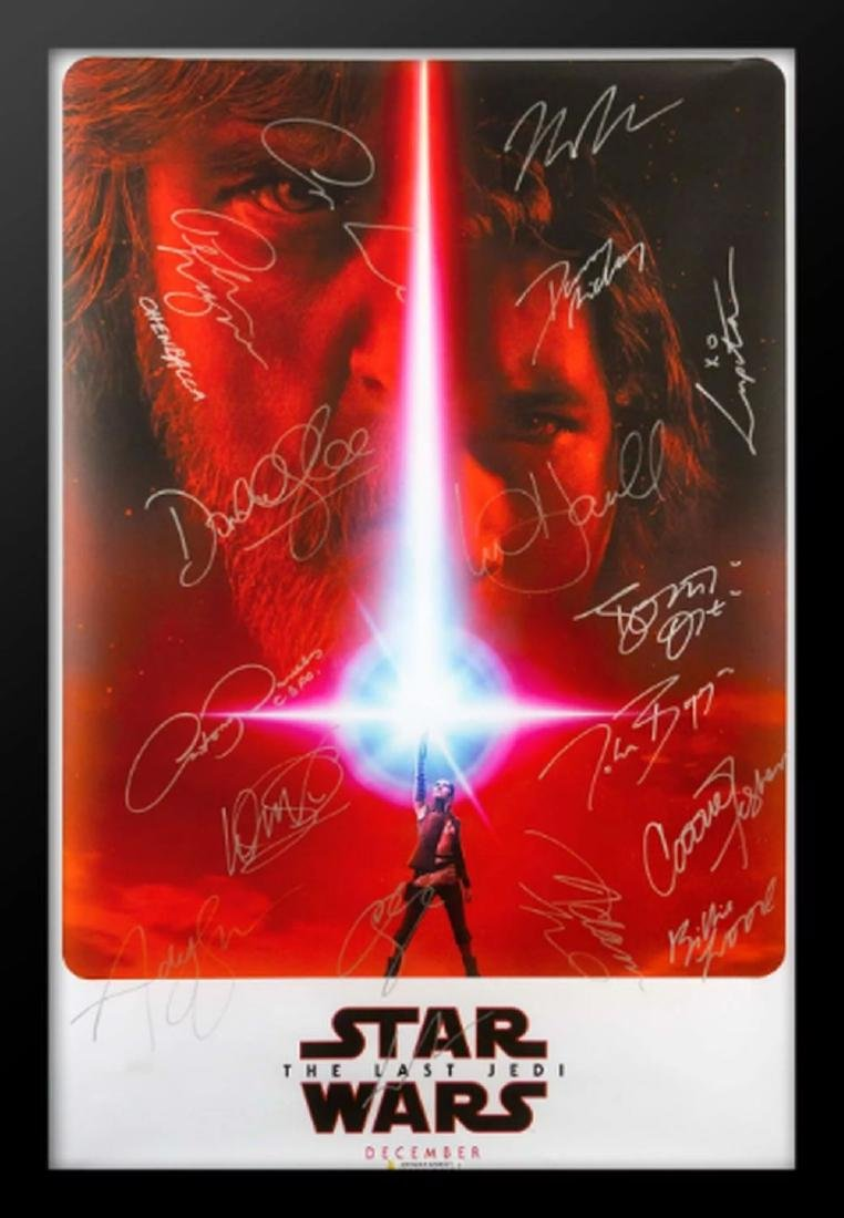 Star Wars The Last Jedi - Cast Signed Movie Poster