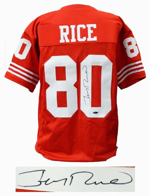 jerry rice signed jersey