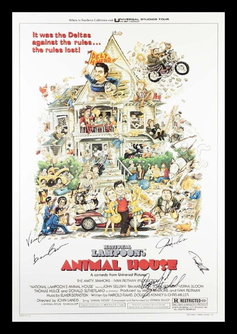 Animal House Signed Movie Poster
