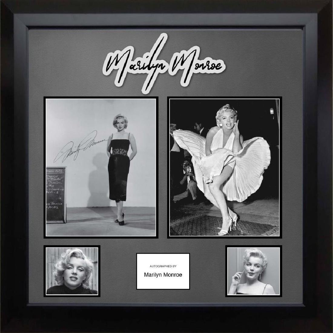 Marilyn Monroe Signed & Framed Photo Collage