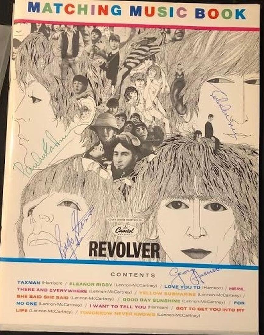 The Beatles Signed Revolver Music Book