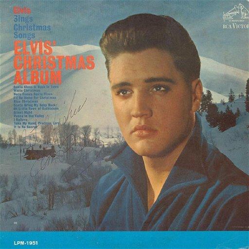 Elvis Christmas Album.Elvis Presley Elvis Christmas Album Signed Album