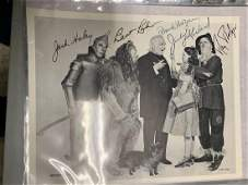 Wizard of Oz Cast Signed Photo