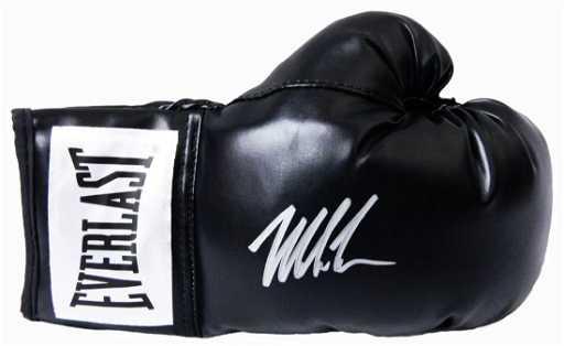 c850e777410 Mike Tyson Signed Everlast Black Full Size Boxing Glove