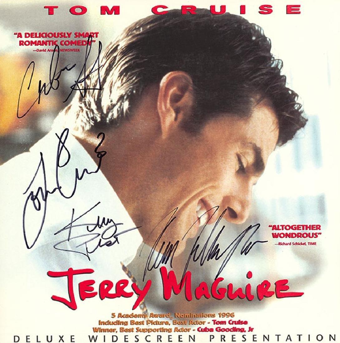 Jerry Maguire Cast Signed Movie Laserdisc Album - Feb 06