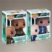 Fast and Furious Cast Signed Funko Pop Set