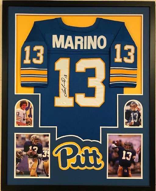 8c2a6fb5ec9 Dan Marino Signed Pitt Jersey