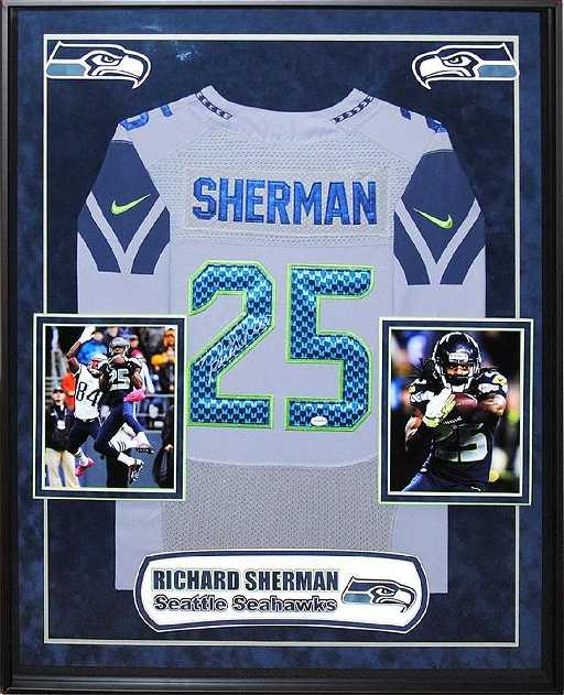 363e405ecae Richard Sherman Signed Seattle Seahawks Jersey. placeholder