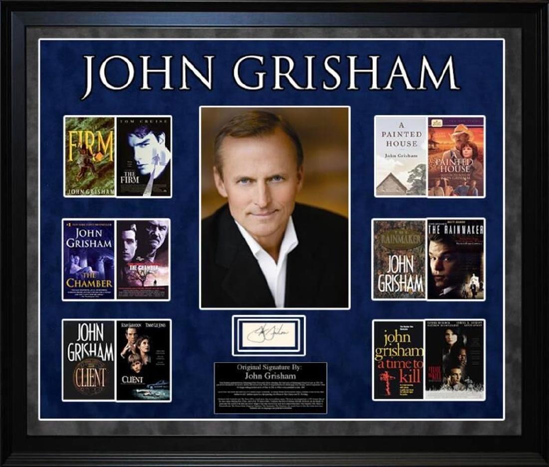 John Grisham Autographed signature collage