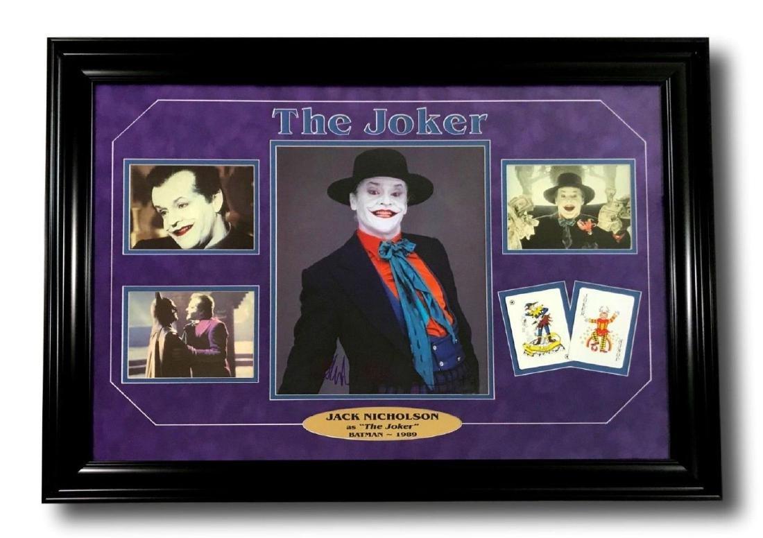 Jack Nicholson Signed Joker Collage