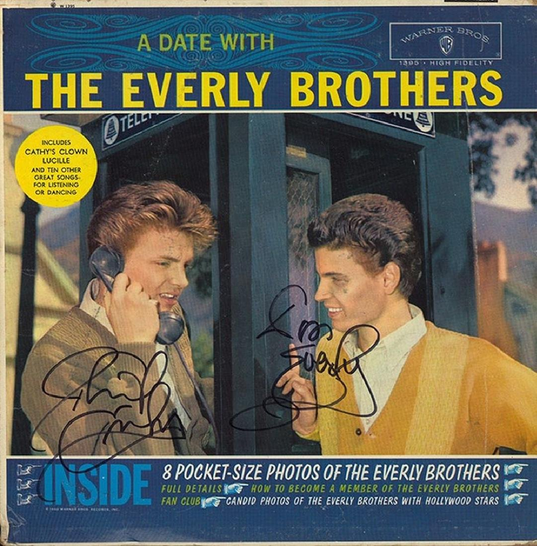 The Everly Brothers Band Signed A Date With The Everly
