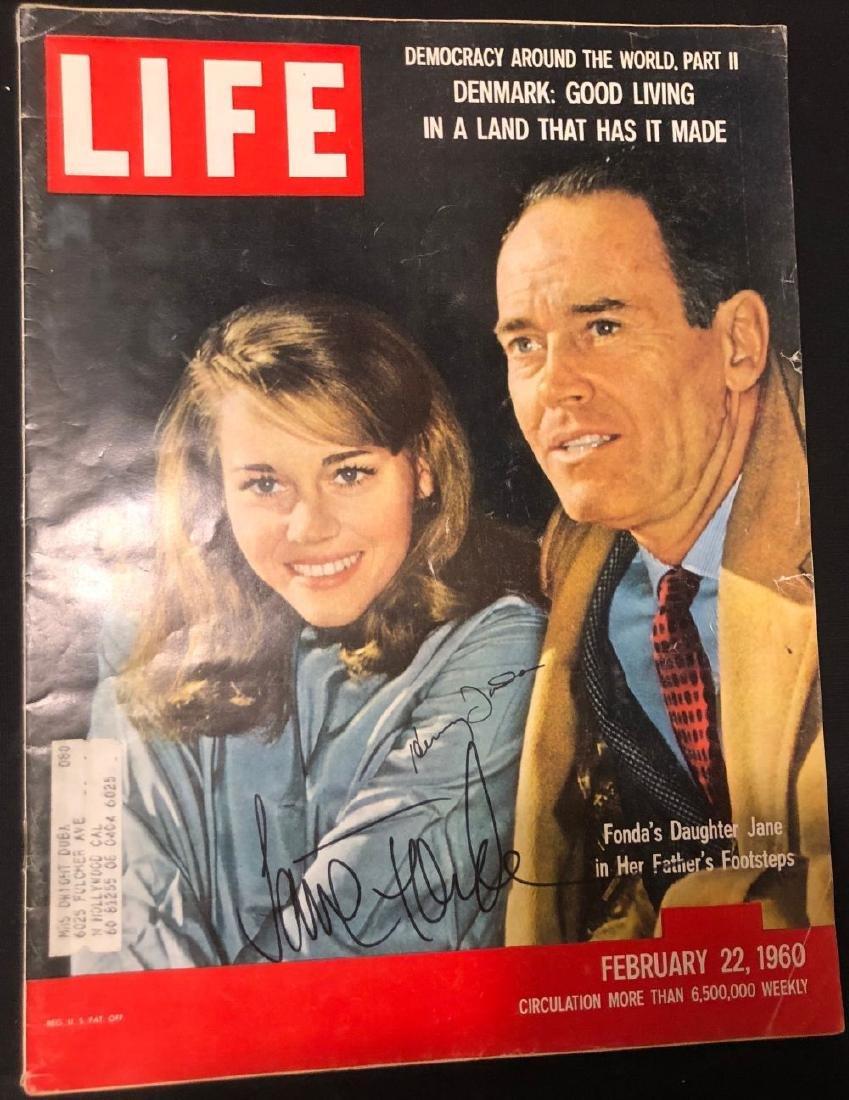 Henry & Jane Fonda Signed 1960 Life Magazine