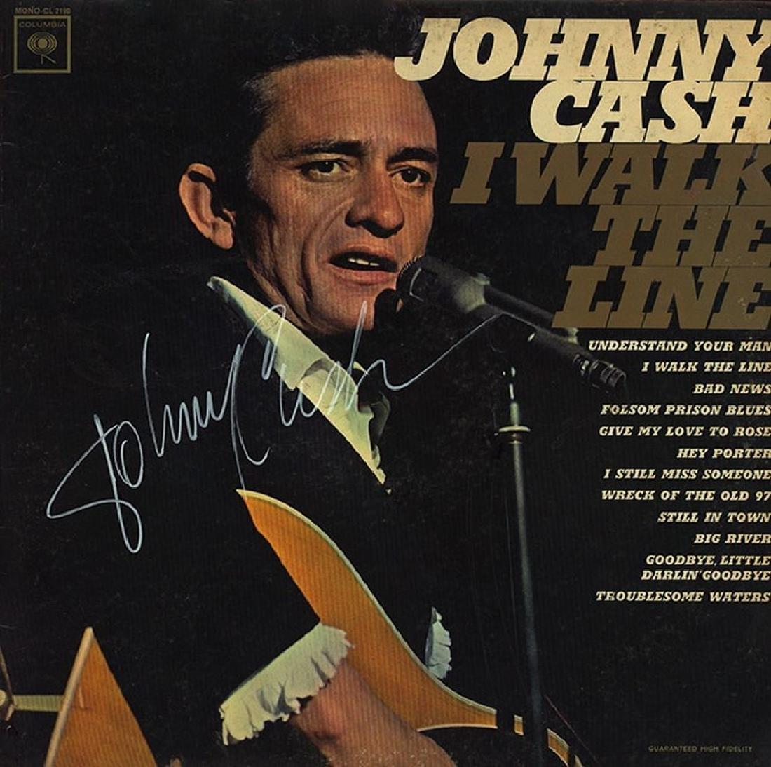 """Johnny Cash Signed """"I Walk The Line"""" Album"""
