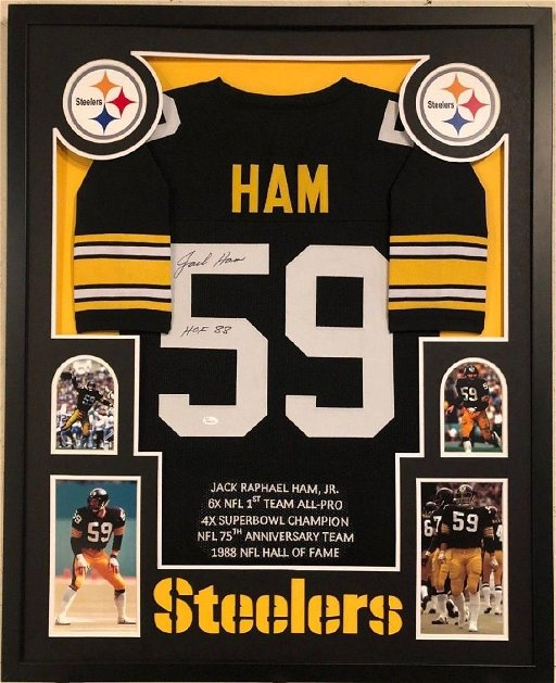 new arrival 96a6c f18d5 Jack Ham Signed Steelers Jersey - Feb 22, 2019 | High End ...
