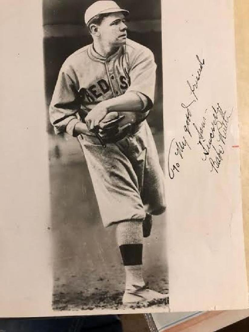 Babe Ruth Signed Red Sox Photo