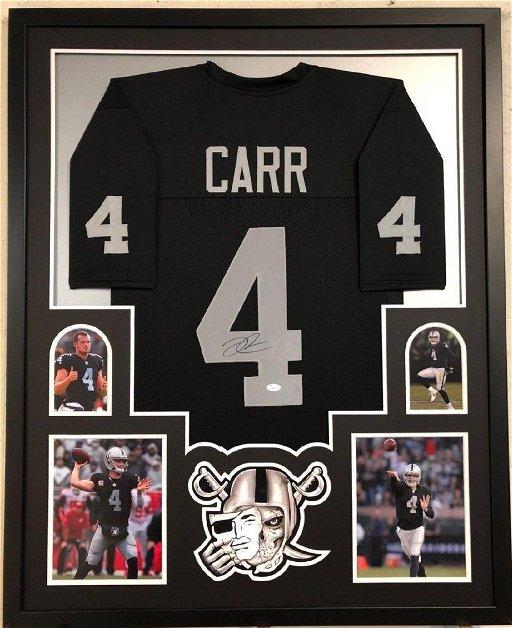timeless design bde10 af272 Derek Carr Signed Raiders Jersey - Feb 22, 2019 | High End ...