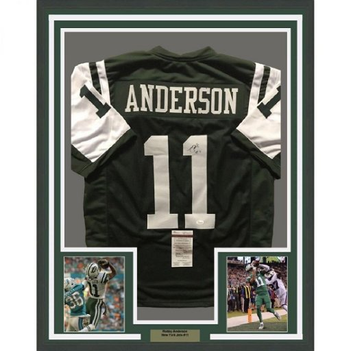 info for b976a c189b Robby Anderson Signed Jets Jersey - Feb 22, 2019 | High End ...