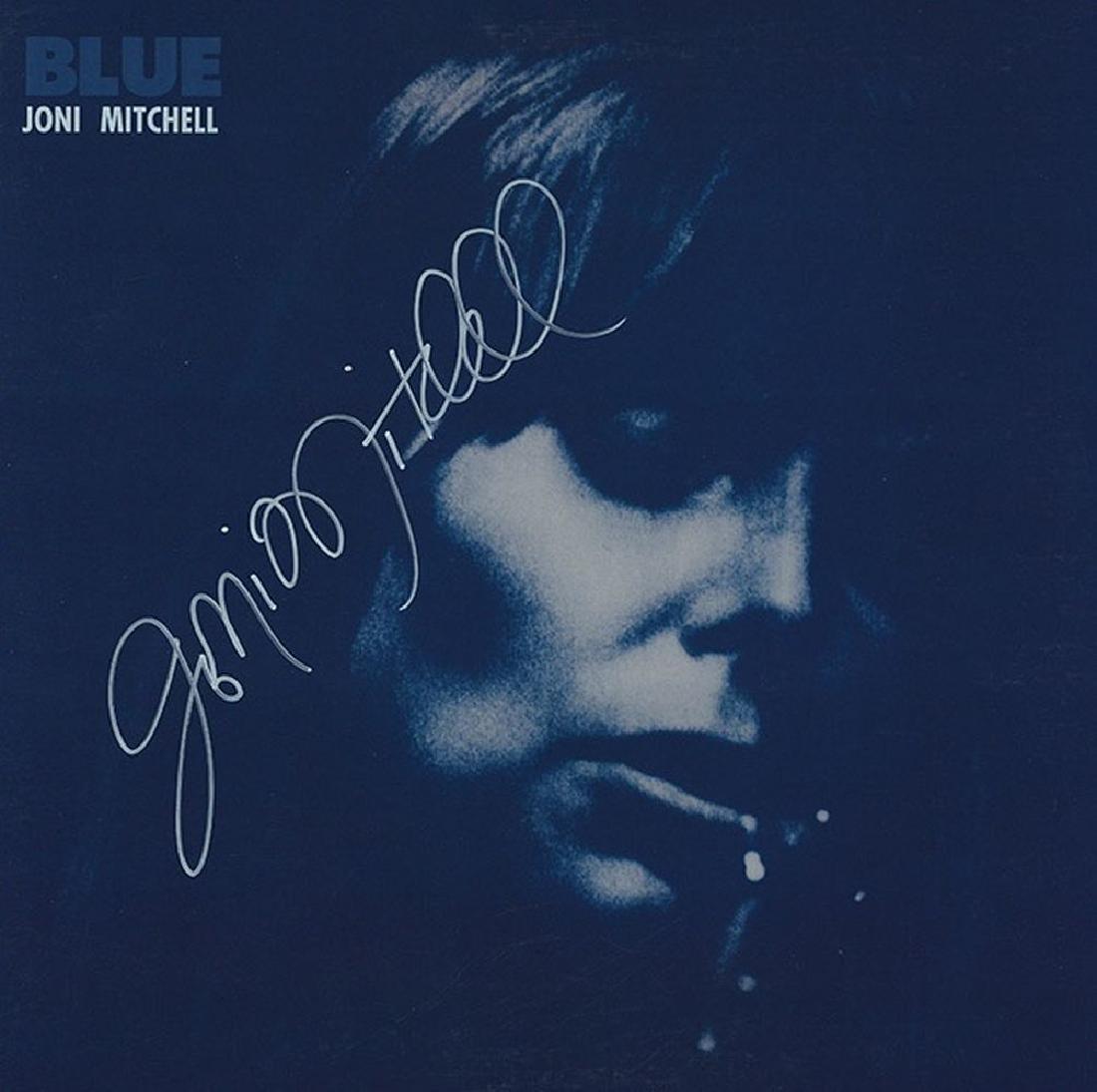 Joni Mitchell Signed Blue Album