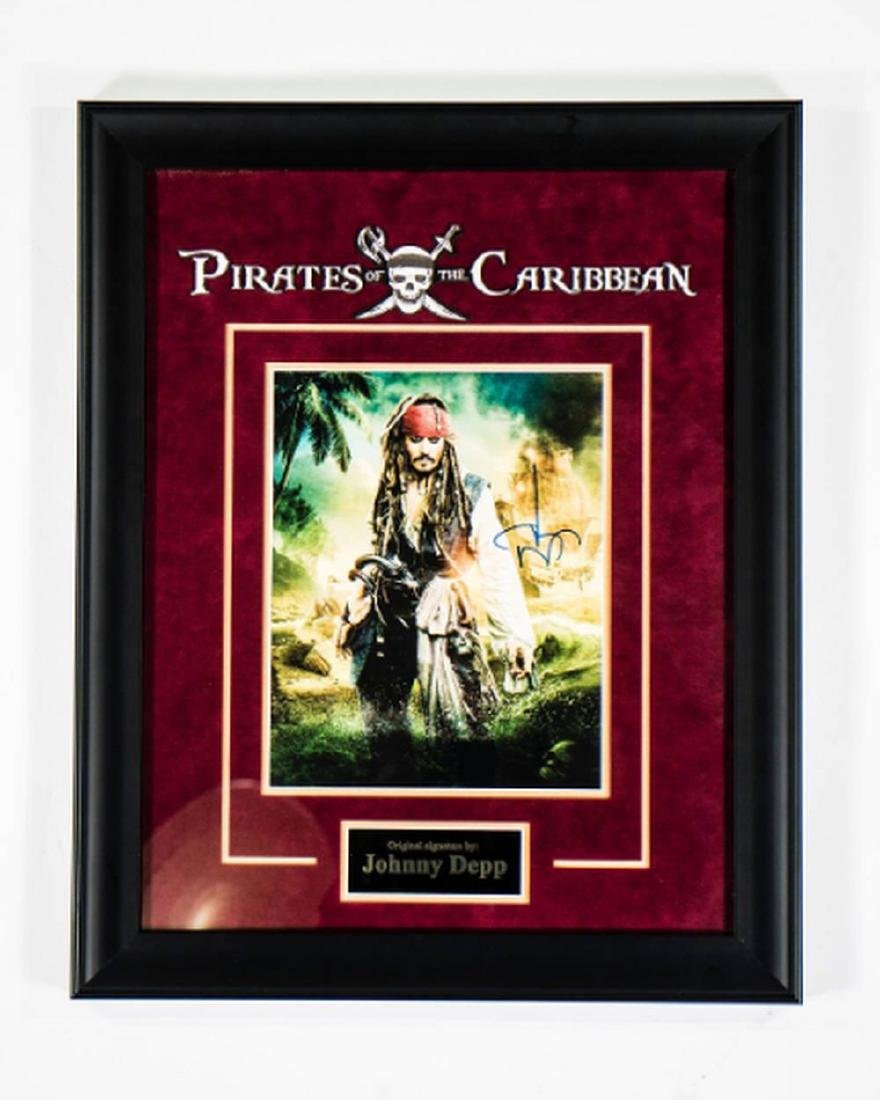 Pirates of the Caribbean - Signed by Johnny Depp -