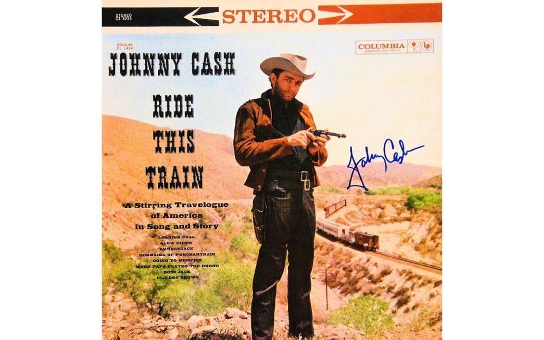 """Johnny Cash Signed """"Ride This Train"""" Album"""