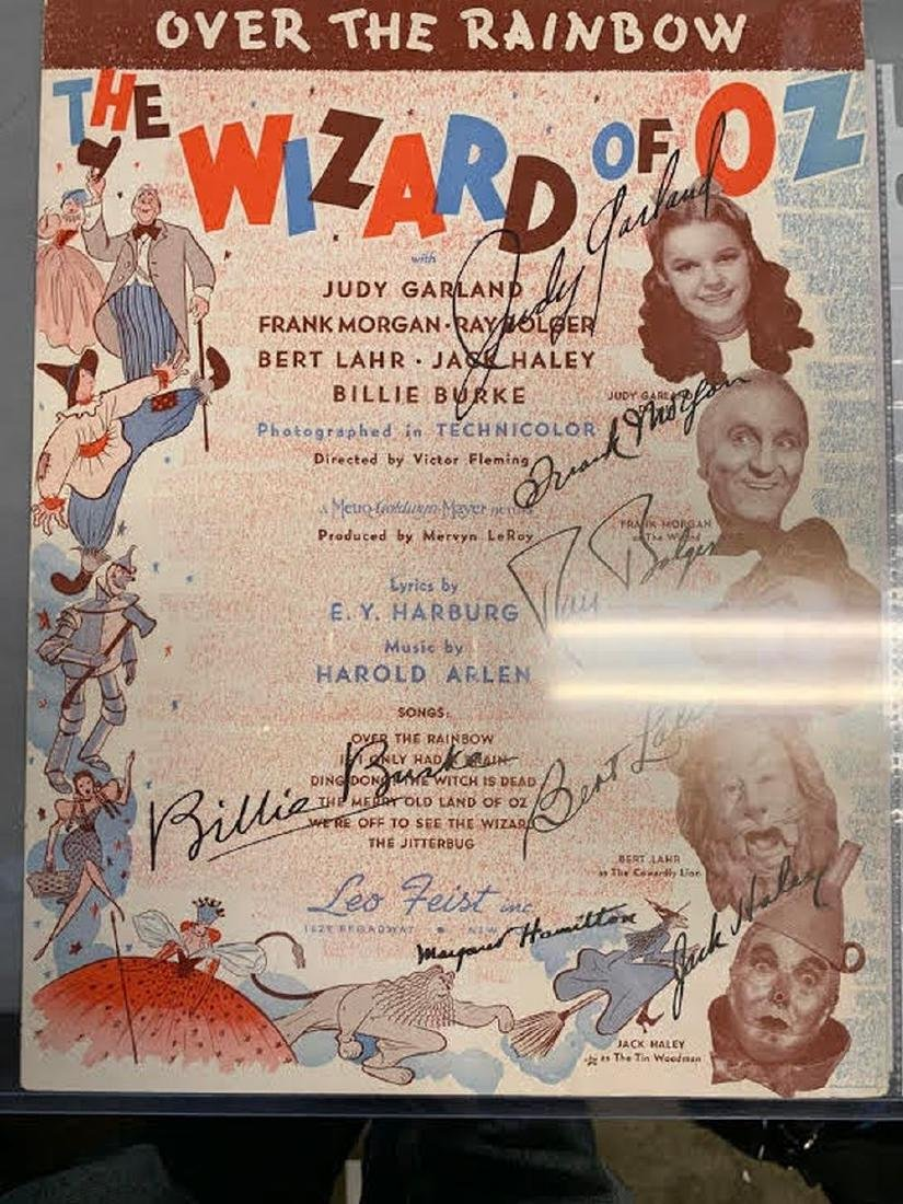 Wizard of Oz Cast Signed Sheet Music (GFA)