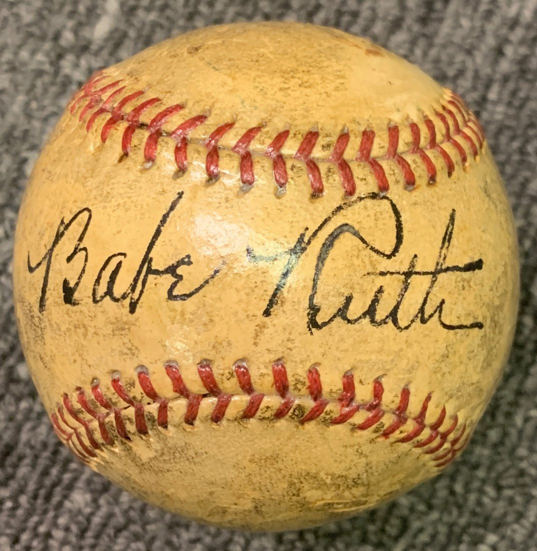 Babe Ruth Signed Official American League Baseball