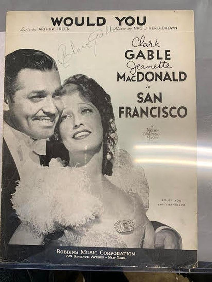 Gable Would You Signed Sheet Music