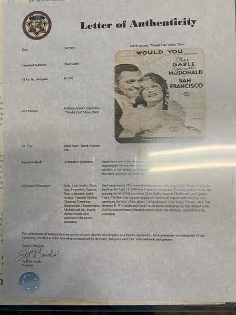 Gable Would You Signed Sheet Music - 2