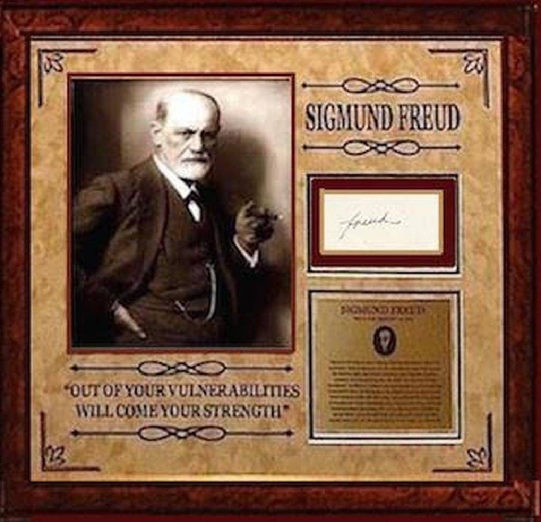 Sigmund Freud Framed Signature Collage