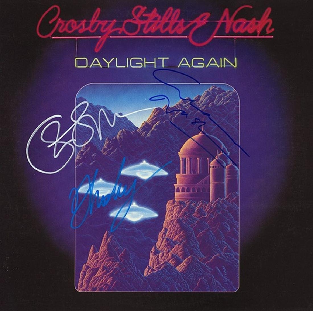 "Crosby Stills and Nash ""Daylight Again"" Signed Album"