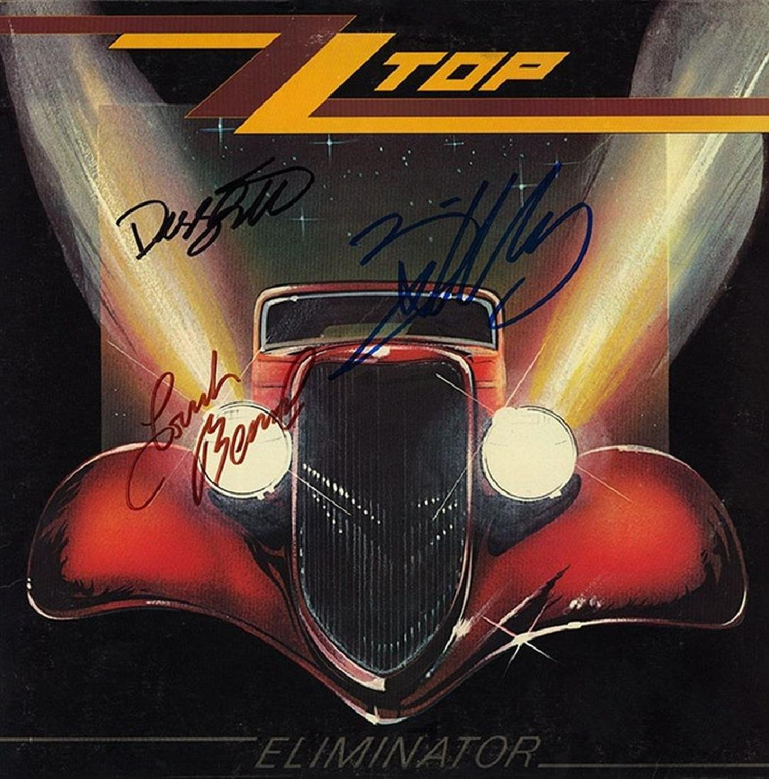 "ZZ Top ""Eliminator"" Signed Album"