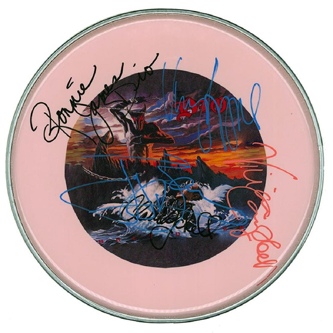 """Dio """"Holy Diver"""" Signed Drum Head"""