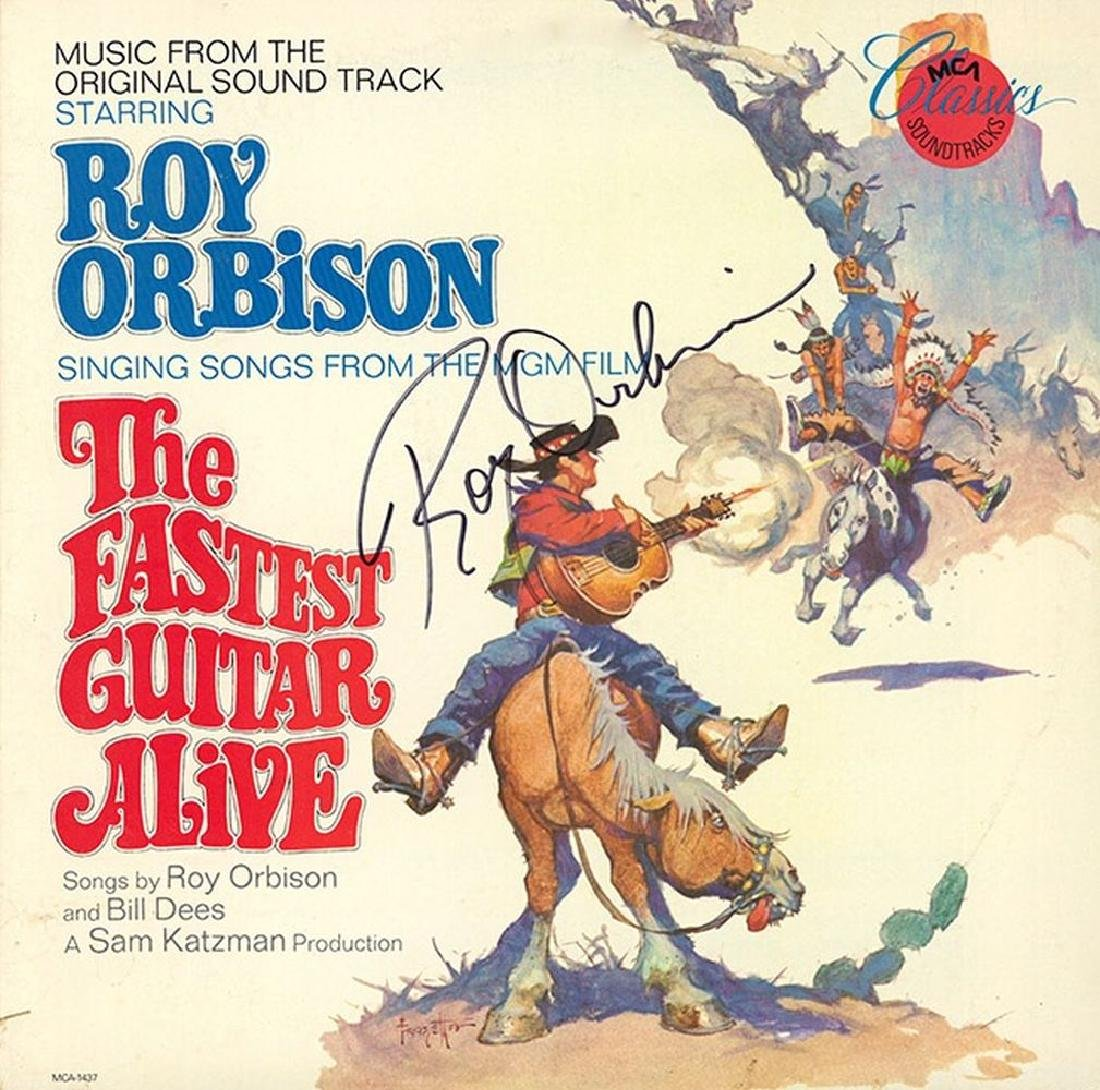 "Roy Orbison ""The Fastest Guitar Alive"" Signed Album"