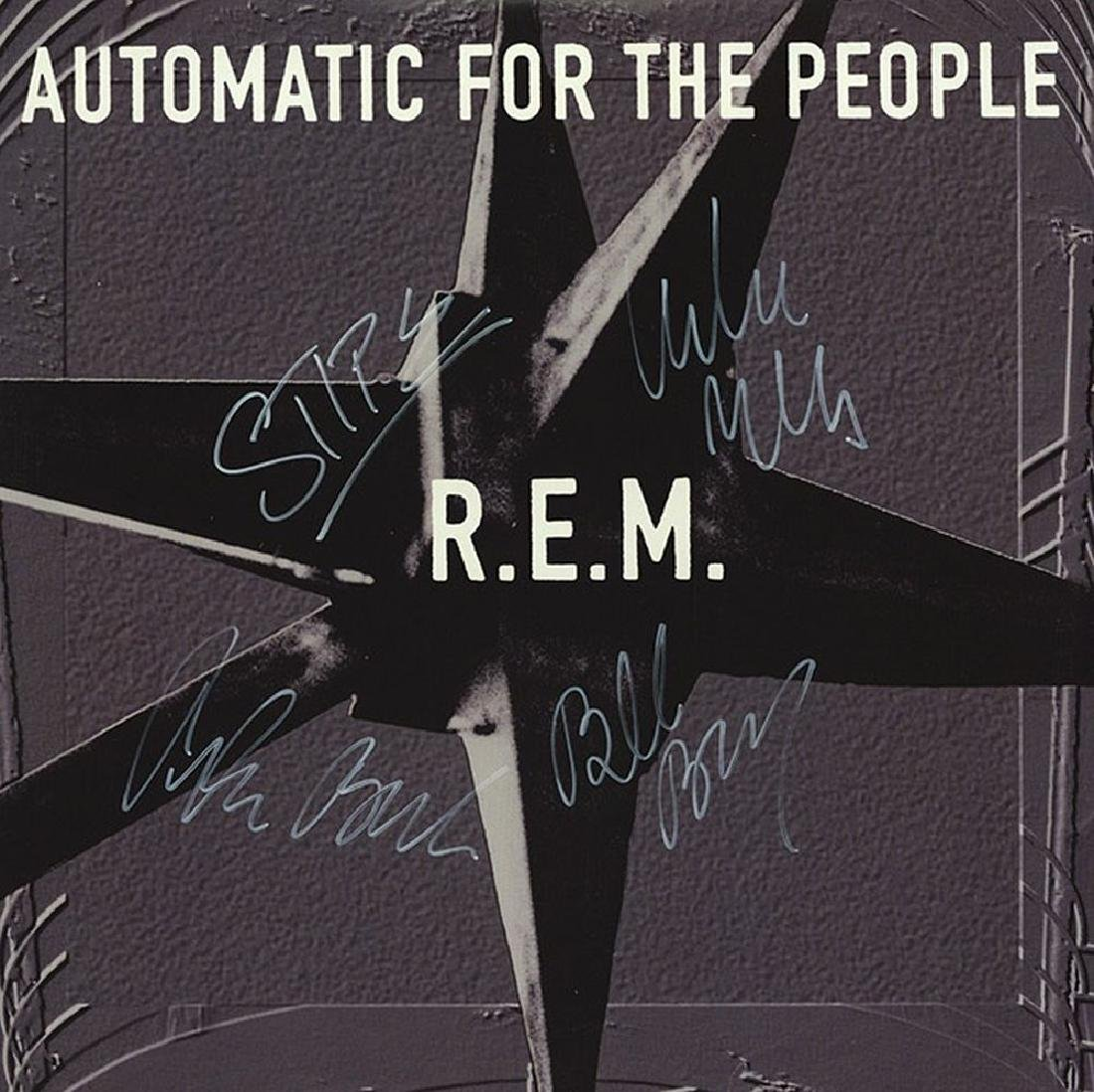 """R.E.M. """"Automatic For The People"""" Signed Album"""