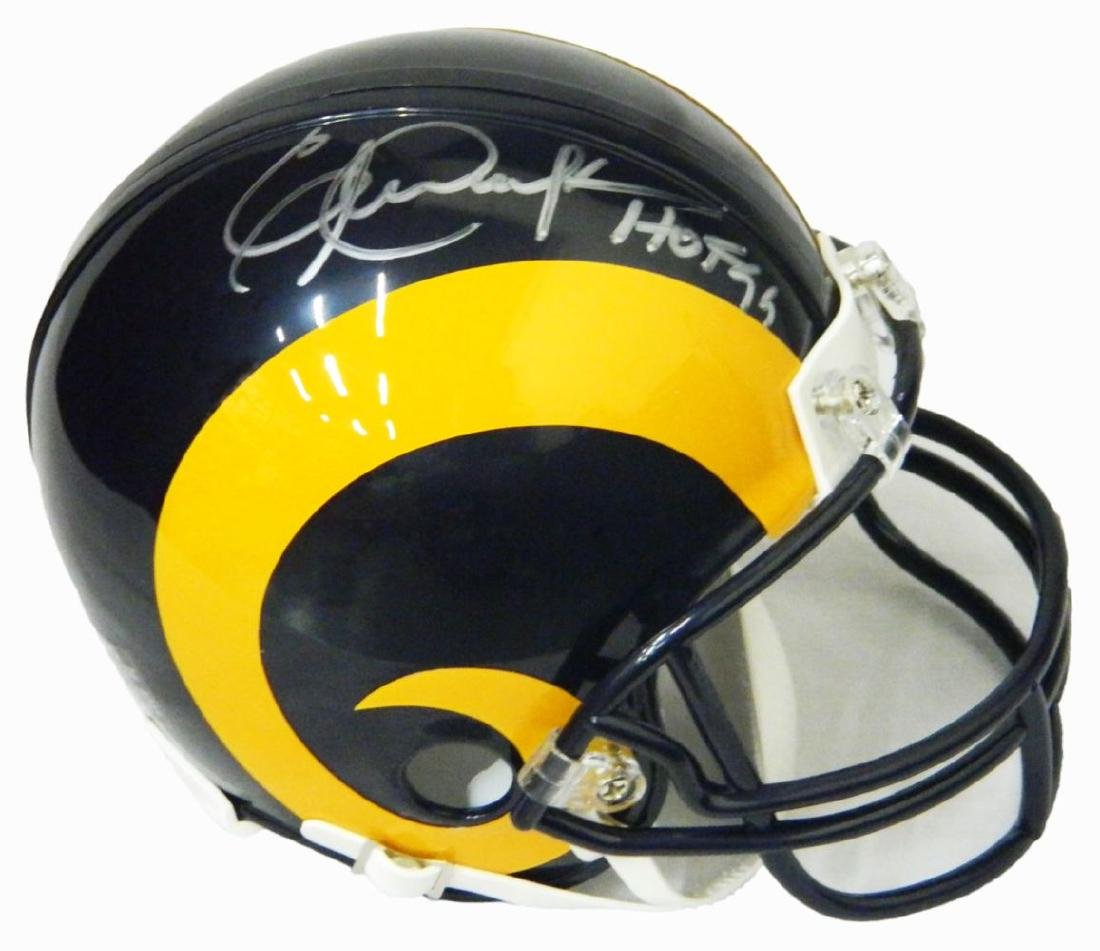 Eric Dickerson Signed Los Angeles Rams Throwback
