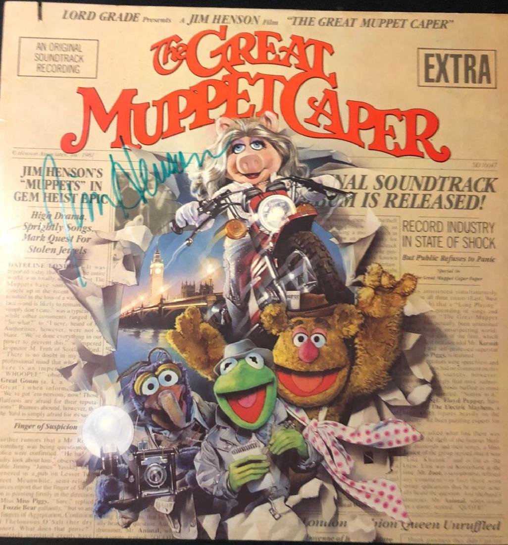 """Jim Henson """"The Great Muppet Caper"""" Signed Soundtrack"""