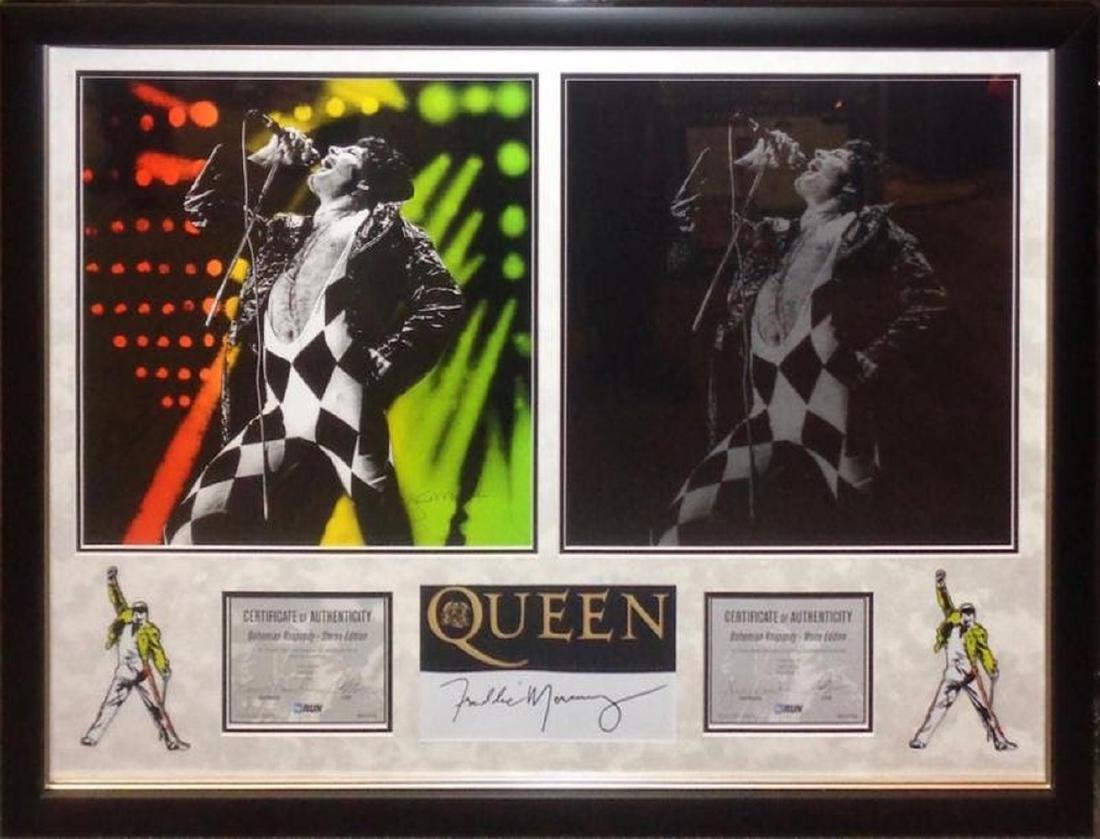 Freddie Mercury Autographed Collage