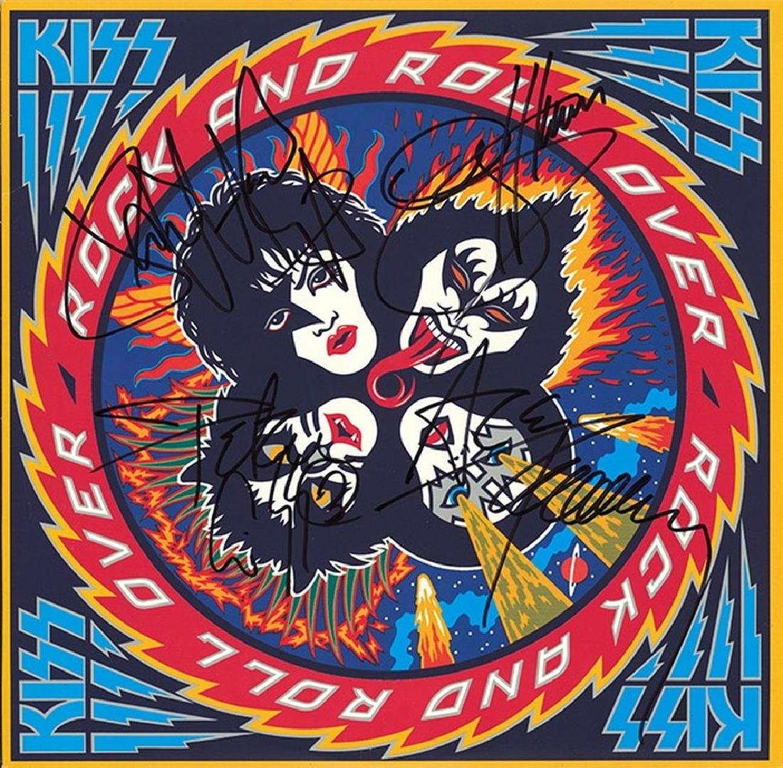"""KISS """"Rock And Roll Over"""" Signed Album"""