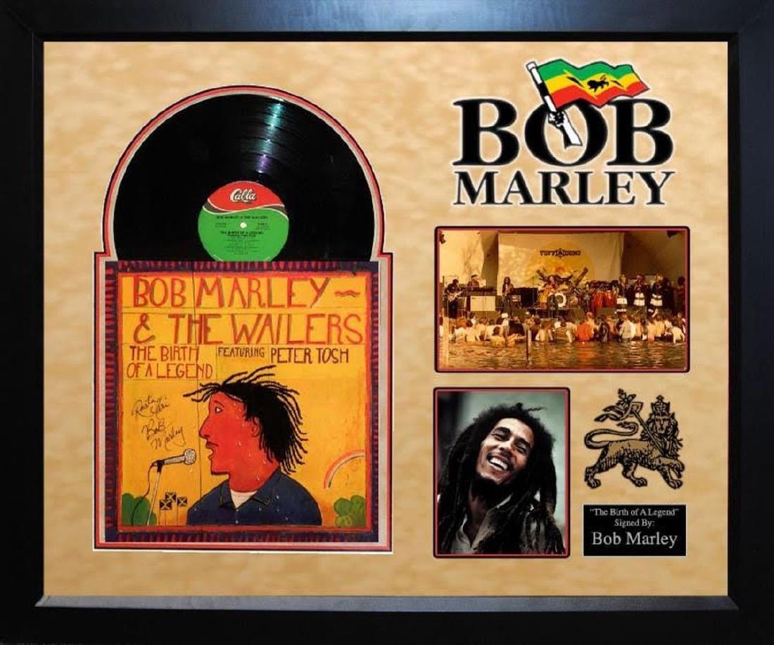 """Bob Marley """"Birth of a Legend"""" Signed Album"""
