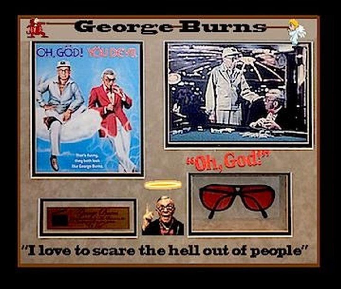 "Red tinted prop sunglasses worn in ""Oh God, You Devil"""