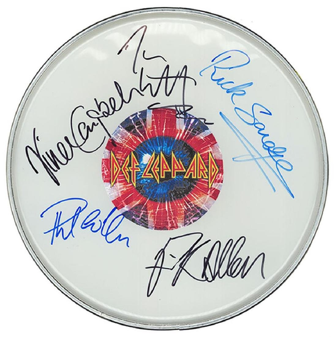 Def Leppard Signed Drum Head