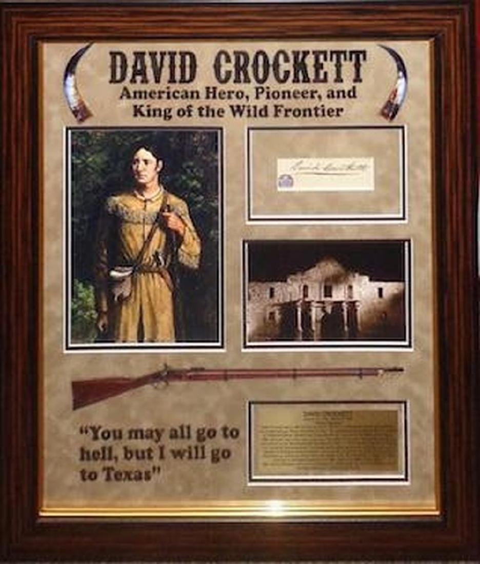 David (Davy) Crockett Signed Tribute Collage