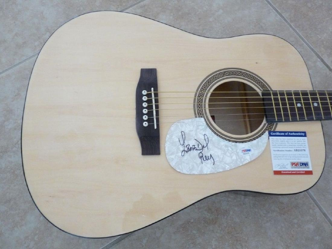 PSA/DNA Lana Del Ray Signed Acoustic Guitar