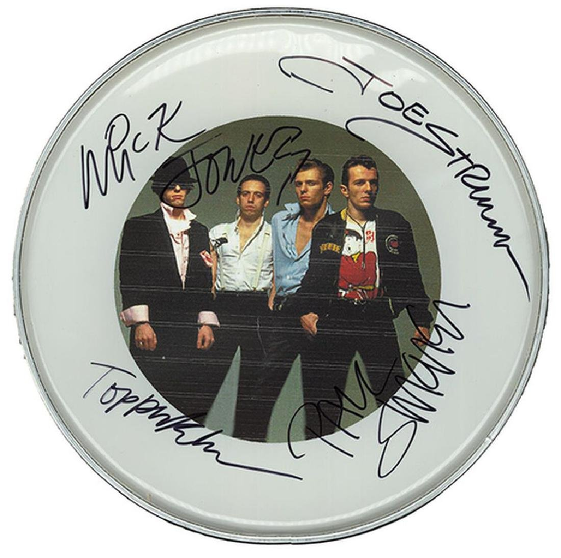 The Clash Signed Drum Head
